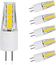 5 Pack G4 LED Light Bulb 12V AC/DC 3W Lamp, 10x2835 SMD, 200LM, 6000K Daylight White Energy Saving Led Lamp, CRI > 80