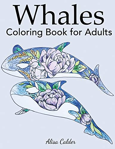 Whale Coloring Book for Adults (Animal Coloring Books)