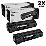 LD Compatible Toner Cartridge Replacements for HP 85A CE285A (Black, 2-Pack)
