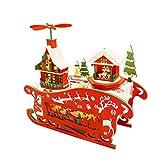 Casa de Muñecas en Miniatura Noche Mágica de Navidad Casa de Muñecas de Madera de Bricolaje con Muebles y Luz LED Juguete para Niños Niños Amigos Familias