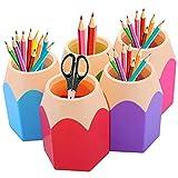 Portalápices 5 Piezas de Escritorio de Organizador de Pluma de Lápices para Oficina y Escuela Casa