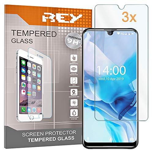 REY Pack 3X Panzerglas Schutzfolie für OUKITEL K9, Bildschirmschutzfolie 9H+ Festigkeit, Anti-Kratzen, Anti-Öl, Anti-Bläschen