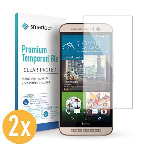 smartect Panzerglas kompatibel mit HTC One M9 [2 Stück] - Bildschirmschutz mit 9H Festigkeit - Blasenfreie Schutzfolie - Anti Fingerprint Panzerglasfolie