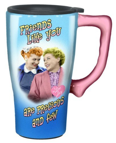 I Love Lucy Travel Mug, Blue by Spoontiques