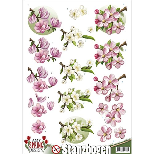 Find It Trading Amy Design Punchout Spring 4 Acrylic Multicolour 23.11x30.73x0.07 cm
