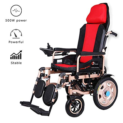 Leichte elektrische Rollstuhlklapp-Rollstühle mit Kopfstütze Verstellbarer Rückenlehne und Pedal