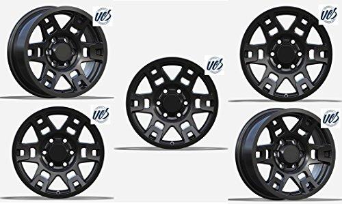 New 17 inch Replacement Wheel Alloy Rim Wheel Black Set of 5 PCS