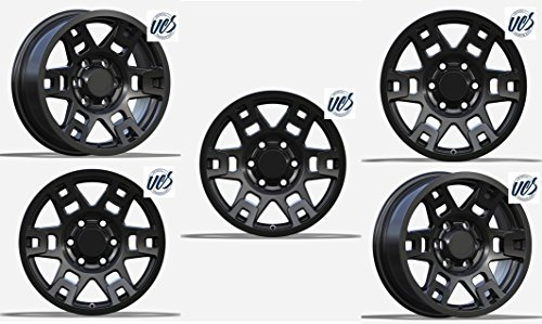 New 17 inch Replacement Wheel Alloy Rim Wheel Black Set of 5 PCS