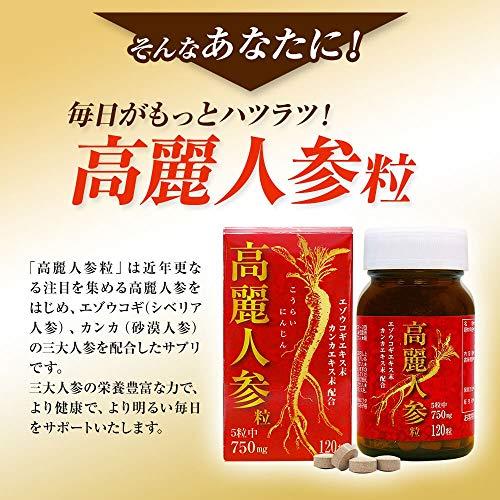 ユウキ製薬 高麗人参粒 24-30日分 120粒