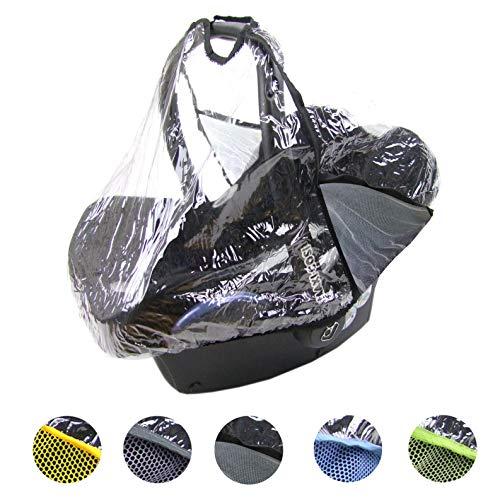 BAMBINIWELT Regenschutz, Regenverdeck für Babyschale MAXI COSI Cabrio-Fix, Citi, Pebble (schwarz)