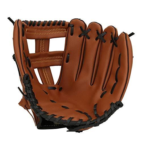 Vbestlife Verdicken Sie Baseball Handschuh, 10,5 11,5 12,5 Linkshänder PU Leder Wettkampf Schlaghandschuh für Erwachsene Kid Teen(12.5 inch)