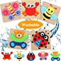 Toddler Toys for 1-2 Year Old Girls Boys Gifts, Washable Non-Wooden Toddler Puzzles, Animal Jigsaw Puzzles Educational Toys for Age 1 2 3 (5 Pack)