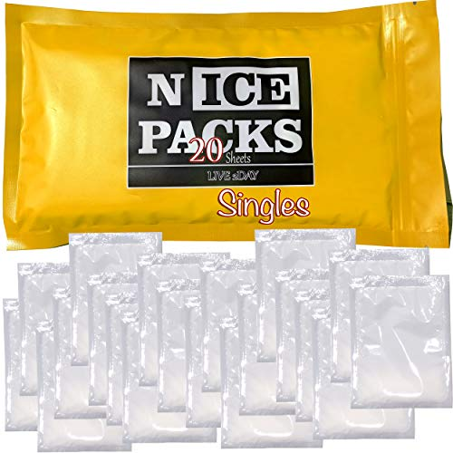 LIVE 2DAY Nice Packs Dry Ice for Coolers - Lunch Box Ice Packs - Dry...