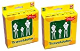TravelJohn Unisex 5 Pack Kranken- und Urinbeutel für Autofahrten und Schwangerschaft (10 Beutel)