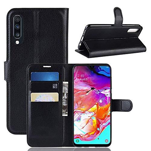 Capa Capinha Carteira 360 Para Samsung Galaxy A70 De Tela 6.7Polegadas Case Couro Flip Wallet Danet (Preto)