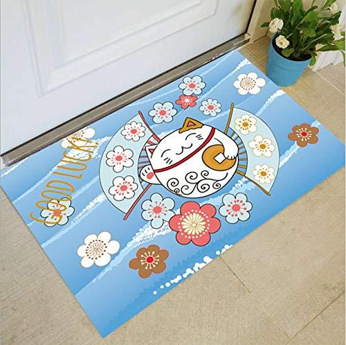 Huishoudelijke vloermatten deurmatten antislip fabrikanten groothandel geschenken cartoon geometrische eenvoudig tapijt T 60x80cm