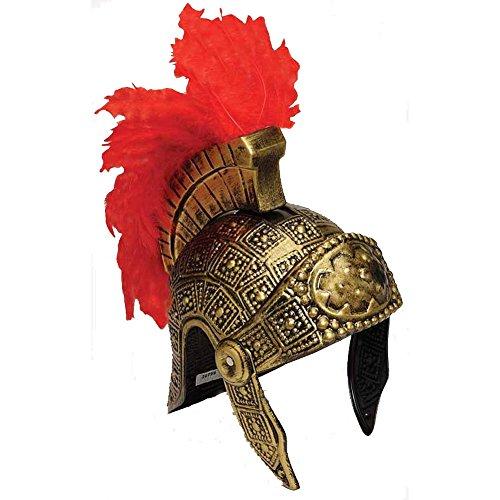 Plastique Gladiator casque avec plumes (2 pièces)