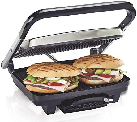 Hamilton Beach Panini Press Sandwich Maker Electric Indoor Grill Upright Storage Nonstick Easy product image
