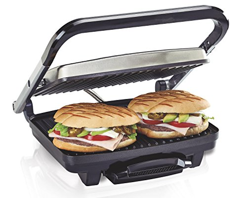 Hamilton Beach Panini Press, Sandwich Maker & Electric Indoor Grill, Upright Storage, Nonstick Easy...