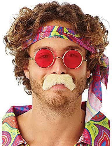 Rubies Officielle 70s Moustache Blonde, pour Adulte – Taille Unique