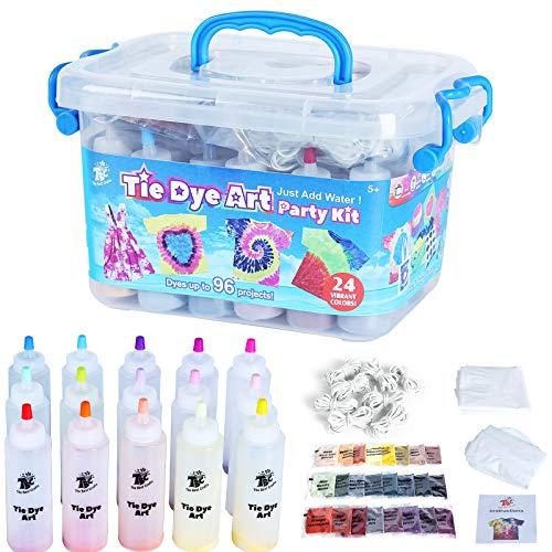 TBC The Best Crafts Tie Dye Kit, 24 Vibrant Colours, Arts & Crafts Set for...