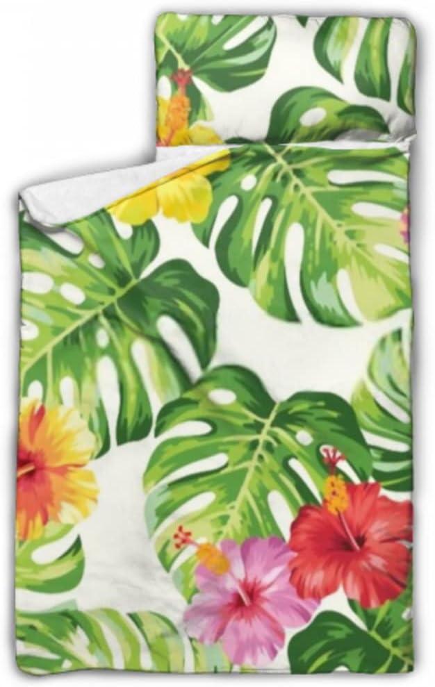 HJSHG Kids Sleeping Bag Tropical Palm wit Leaves Nap 5 ☆ popular Factory outlet Flowers Mat