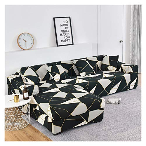 NEWRX Cubierta de sofá elástica Impresa Floral para la Cubierta de la Silla de la Sala de Estar Protector Compre Dos Cubiertas separadas para Todo su sofá en Forma de L