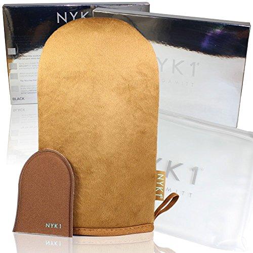 NYK1 Guanto per Autoabbronzante Double Face Tanning Mega Mitt (Marrone), Perfetto per Applicare Prodotti Autoabbronzanti in Mousse, Crema o Liquidi. Per un'applicazione del prodotto che non appiccica.