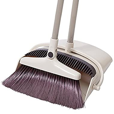 Rotatable Broom and Dustpan Set Dust pan and Broom Combo Artifact Standing Upright Foldable Set