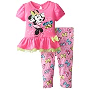 Disney Minnie Mouse Newborn Leggings Baby Leggings Baby Tights for 6-24 Months Light Gray