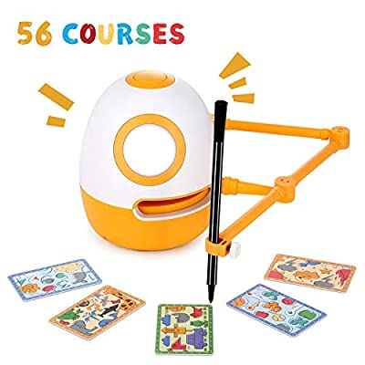 WEDRAW Educational Robot, Learning Toy, Robot Toy for Kids,Learn Draw,Count Math Numbers Letters Words ?50 Courses?,Preschool Learning&Creative Toy for 3-8 Year Old ,Interactive Kids Learning Partner