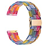 Fullmosa Quick Release Watch Band 18mm,Resin Watch Band Bracelet Compatible Huawei Watch,Compatible Asus Zenwatch 2/LG Watch Style/Withings Activité/Steel HR 36mm,Rainbow