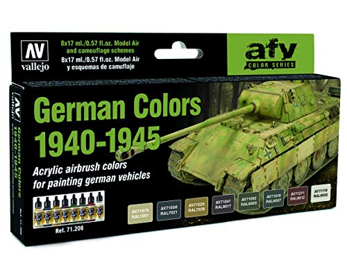 Vallejo Model Air AFV Set 71206 German WWII Colors 1940-1945 (8)