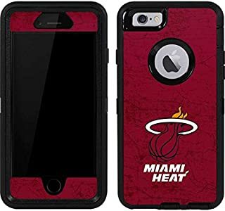 Skinit Decal Skin for OtterBox Defender iPhone 6 - Officially Licensed NBA Miami Heat Red Primary Logo Design