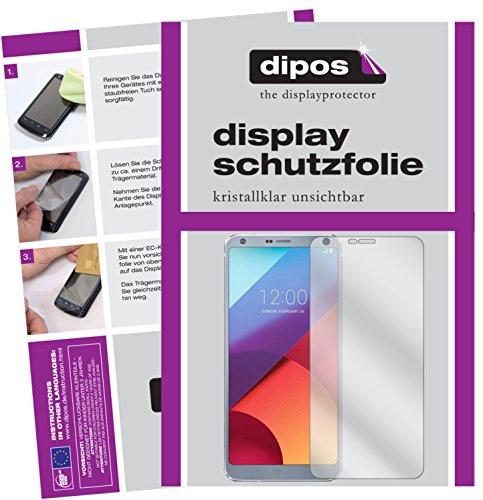 dipos I 6X Schutzfolie klar kompatibel mit LG G6 Folie Bildschirmschutzfolie