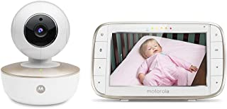 Motorola MBP855SCONNECT Video Baby Monitor 5 Inch en Wi-Fi Hubble Connected App voor Smartphones &Tablets - Wit