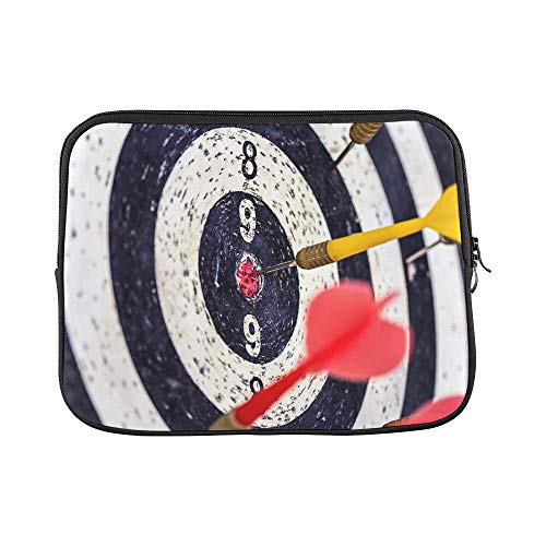 Design Custom Old Dart Target with Arrows Image for Target Mark Sleeve Soft Laptop Case Bag Pouch Skin for MacBook Air 11'(2 Sides)