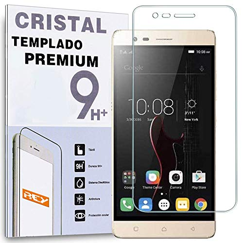 REY Protector de Pantalla para Lenovo K5 Note Cristal Vidrio Templado Premium