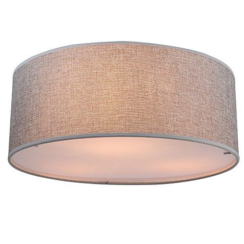 Luxe plafondlamp stof kap lamp wonen slaapkamer verlichting Globo 15185D