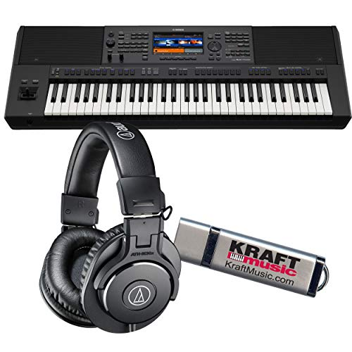 Find Discount Yamaha PSR-SX700 Arranger Workstation Keyboard with ATH-M30 Headphones and Flashdrive
