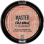 Maybelline New York Facestudio Master Chrome Metallic Highlighter Makeup, Molten Rose Gold, 0.24 Ounce