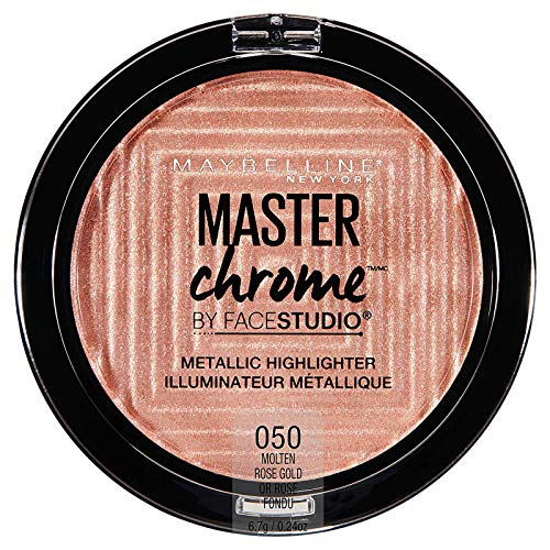 Maybelline New York Facestudio Master Chrome Metallic Highlighter Makeup, Molten Rose Gold, 0.24...