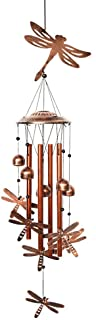 BLESSEDLAND Dragonfly Wind Chimes-4 Hollow Aluminum Tubes -Wind Bells and Dragonflies-Wind Chime with S Hook for Indoor an...