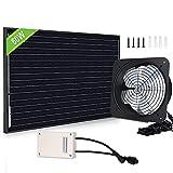 ECO-WORTHY 60W Solar Attic Fan System with 38Wh Battery, DC Fan and 60W Solar...