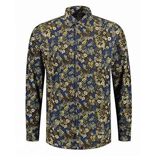 DSTREZZED Hemd mit floralem Muster braun (799 Dk. Brown) L