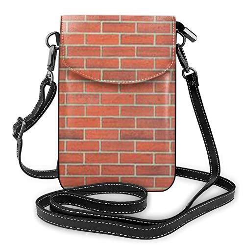 Crossbody Handy Geldbörse Rote Backstein Wand Textur Kleine Umhängetaschen Frauen Pu Leder Umhängetasche Handtasche