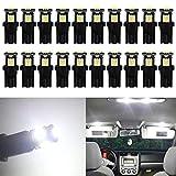 ALOPEE 20-Pack 194 LED Bianco Corpo Nero Luce 12V, Interni Auto e Esterno T10 5SMD 5050 So...