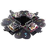 Creative Explosion Gift Box,DIY Handmade Photo Album Scrapbooking Gift Box for Birthday,Valentine's Day, Wedding (A, 1616cm)