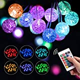 String Lights, USB Ball Lights with Remote Controller and 4 Modes,100 LED Multi Color Decorative Timer Fairy Lights for Indoor Outdoor Wedding Christmas Tree Garden Party Bedroom