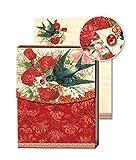 Royal Garden - Taccuino tascabile, a risvolto magnetico, motivo: rondine
